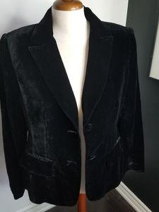 Style & Co silk blend velour velvet type blazer
